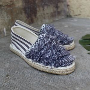 Shoes - 🆕//The Tabitha// Blue and Cream Espadrille